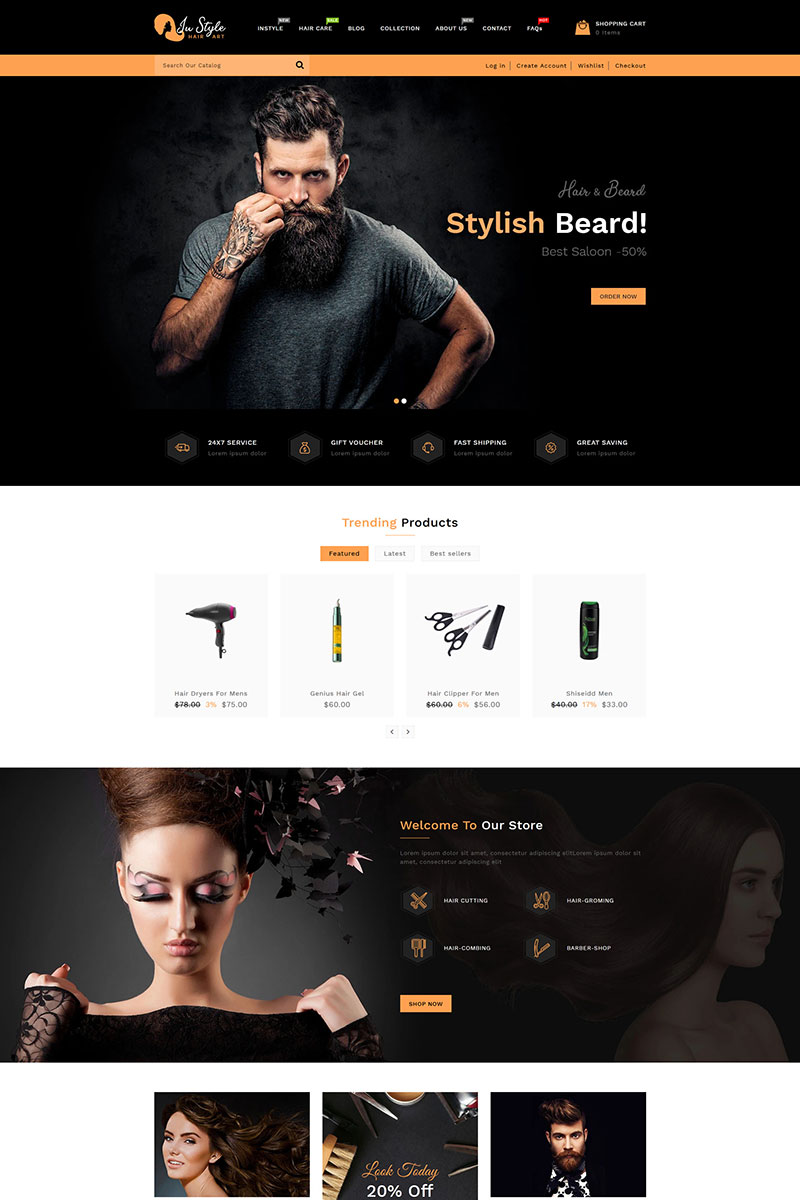 Instyle Hair Saloon Shopify Theme