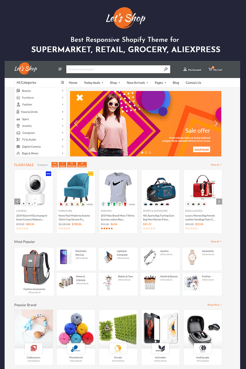 Let's Shop - Responsive for Supermarket, Retail, Grocery Shopify Theme - screenshot