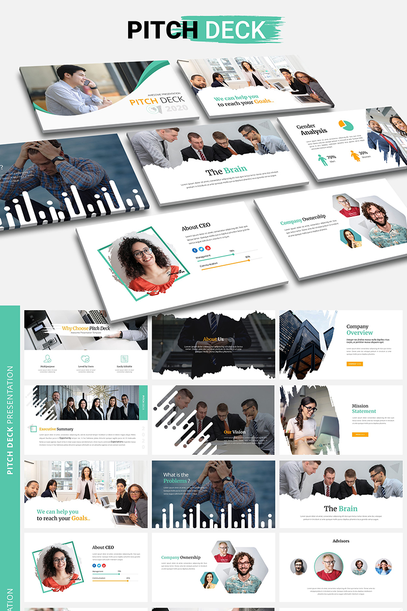 Pitch Deck PowerPointmall #98595