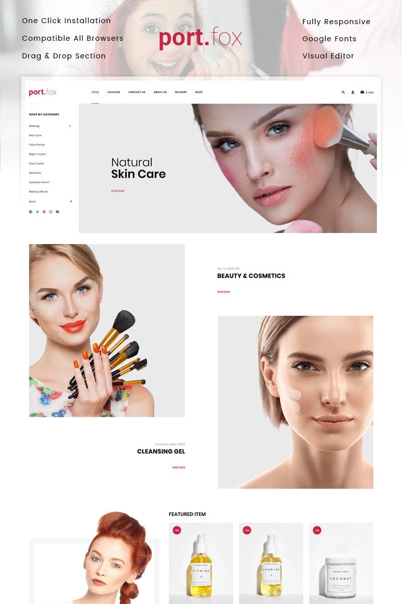 Portfox - Cosmetics Store Shopify Theme