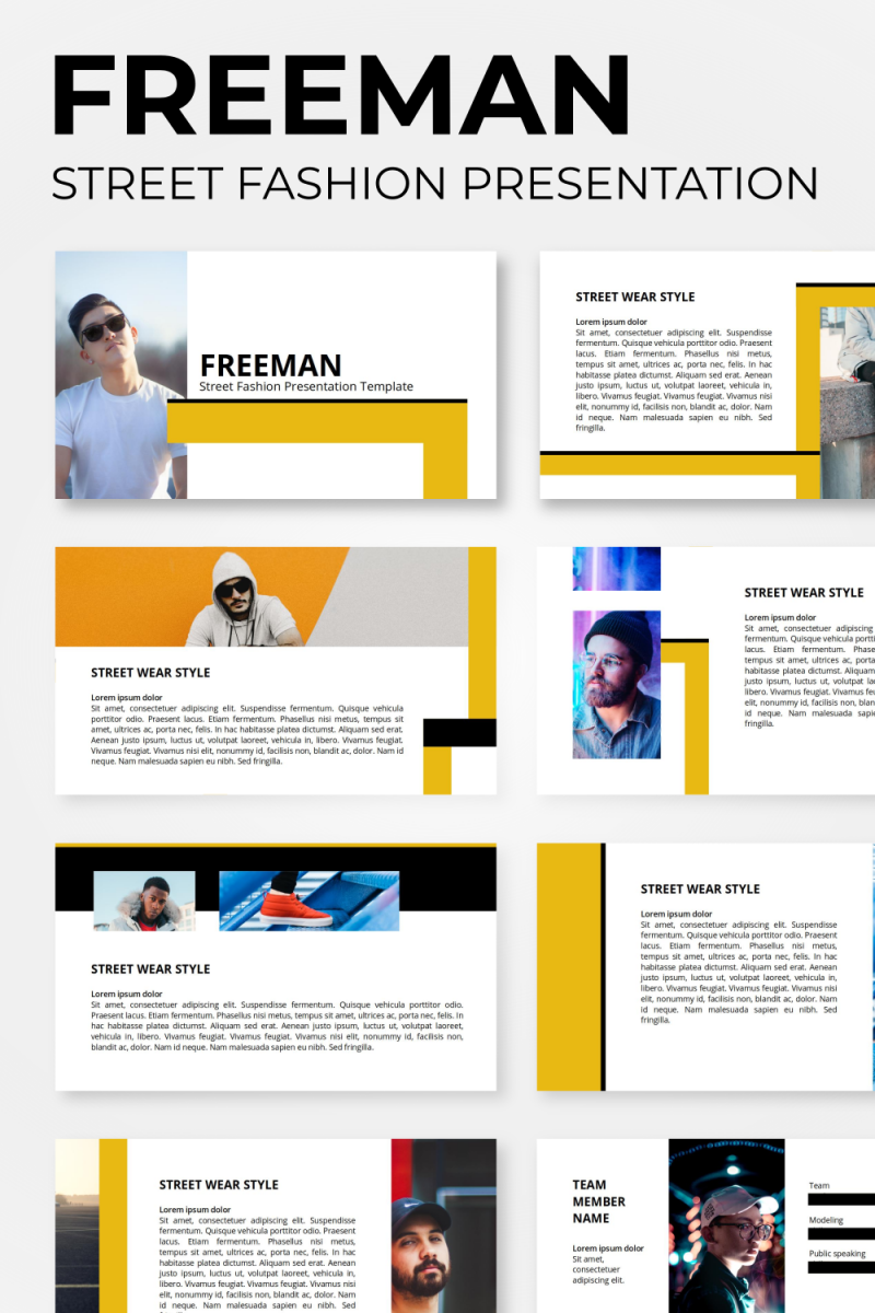 "PowerPoint šablona ""Freeman - Street Fashion"" #98545"