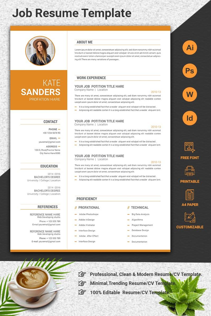 Professional CV Resume Template - screenshot