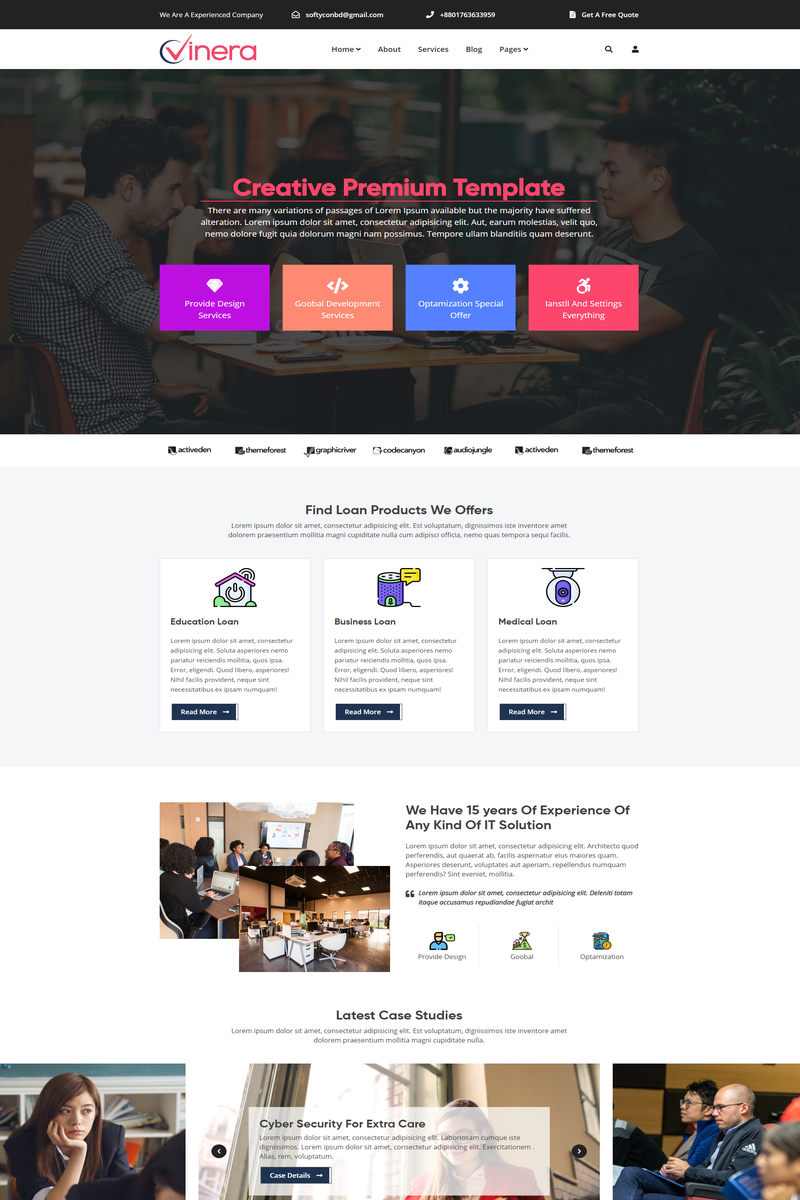 Vinera - Responsive Corporate and Business HTML Website Template