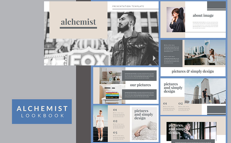 Alchemist Lookbook Keynote Template #98658