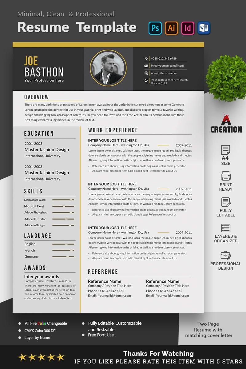 Ben Jonathon - Graphic Designer Resume Template - screenshot