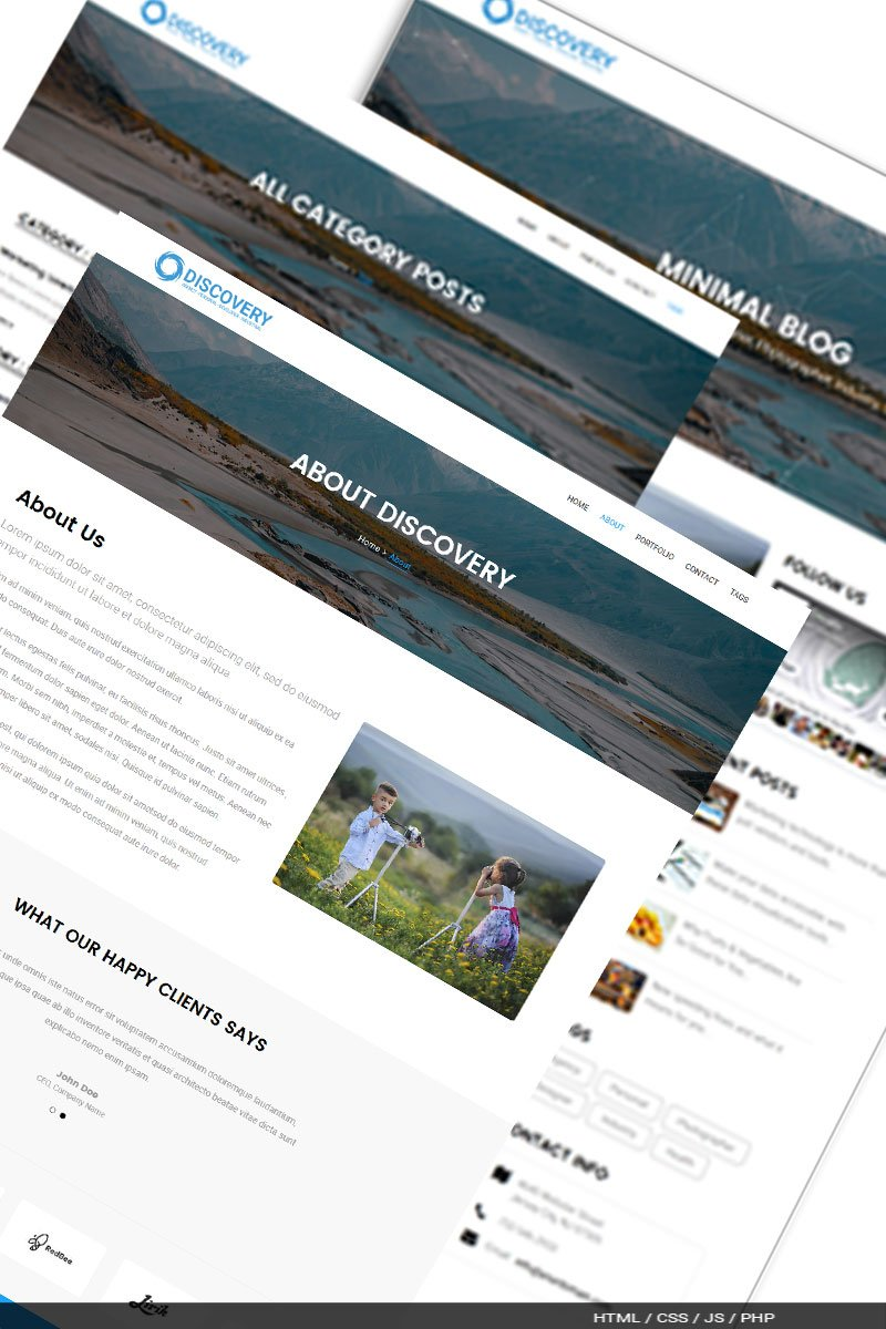 Discovery A Responsive Blog Website Template