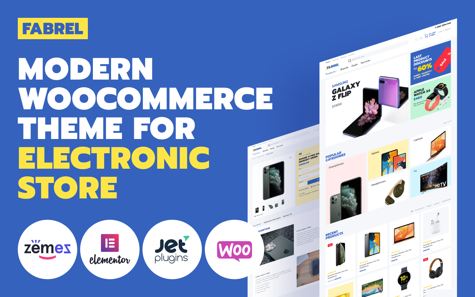 Fabrel - Electronics Store Online WooCommerce Theme