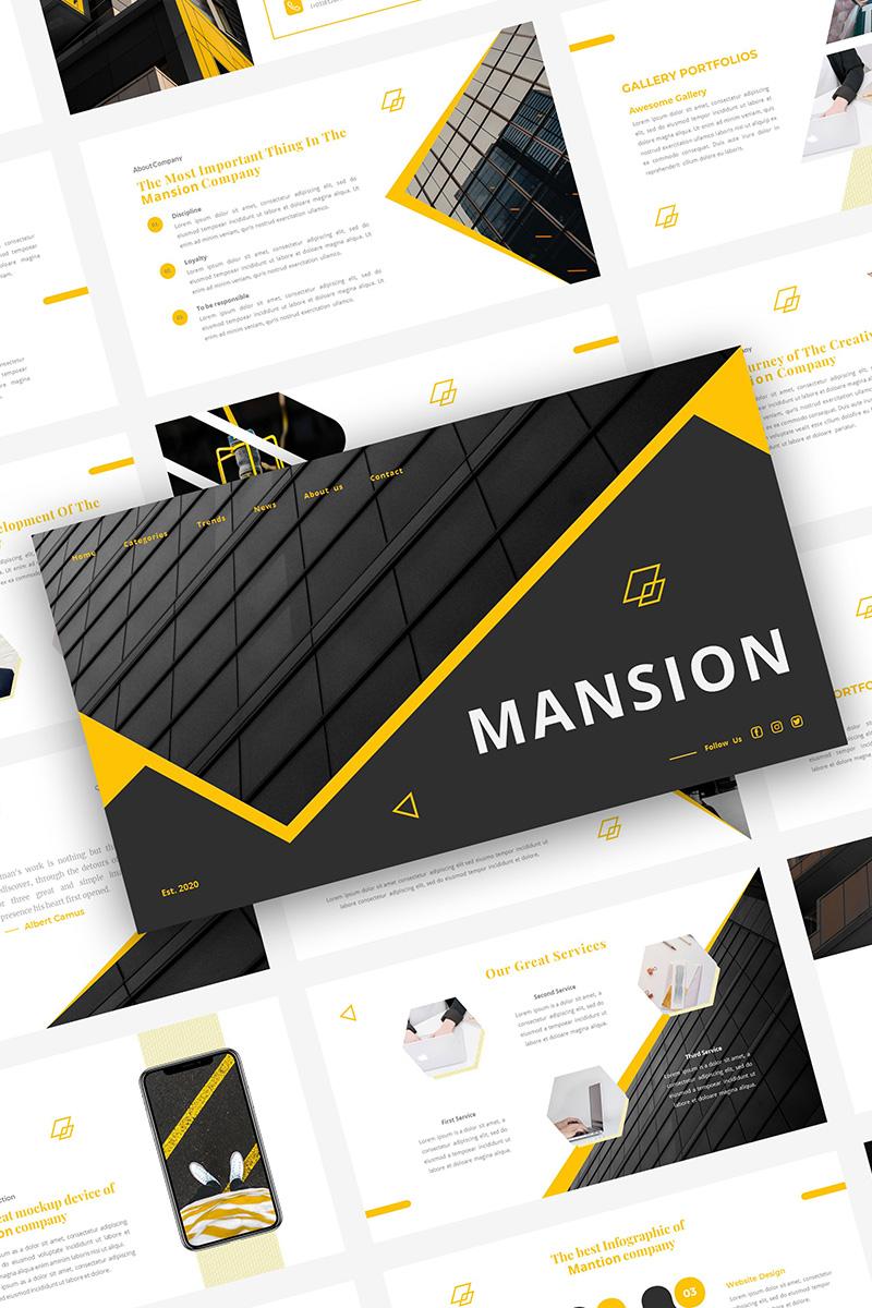 """""""MANSION"""" PowerPoint 模板 #98663"""