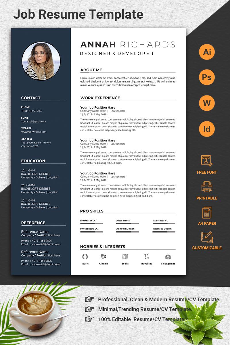 Minimal Word CV Resume Template - screenshot