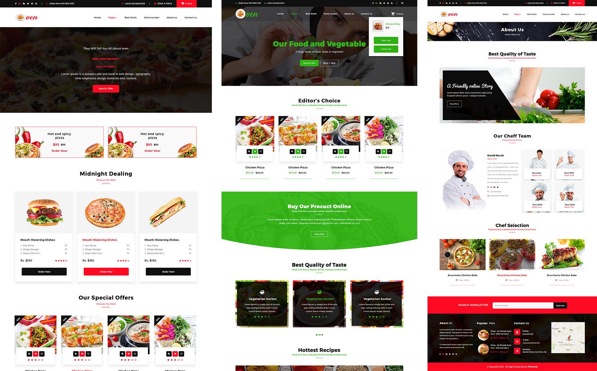 Oven - WooCommerce Restaurant PSD Template