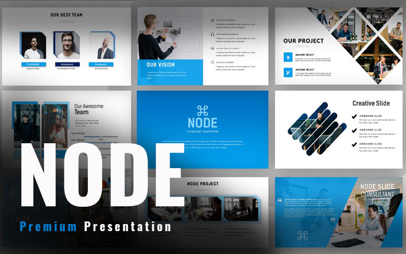 Responsivt Node Consultant Google Slides #98690