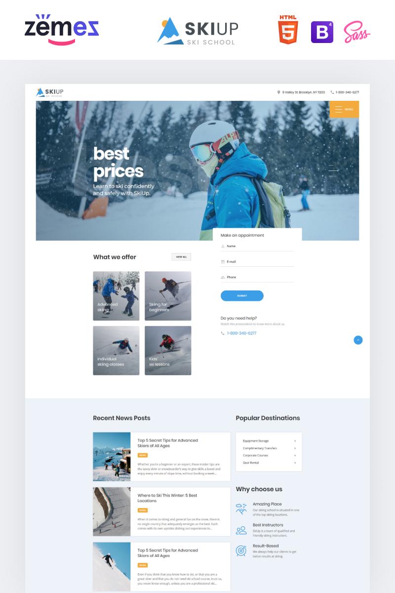 Responsywny szablon strony www SkiUp - Responsive Ski School #98665