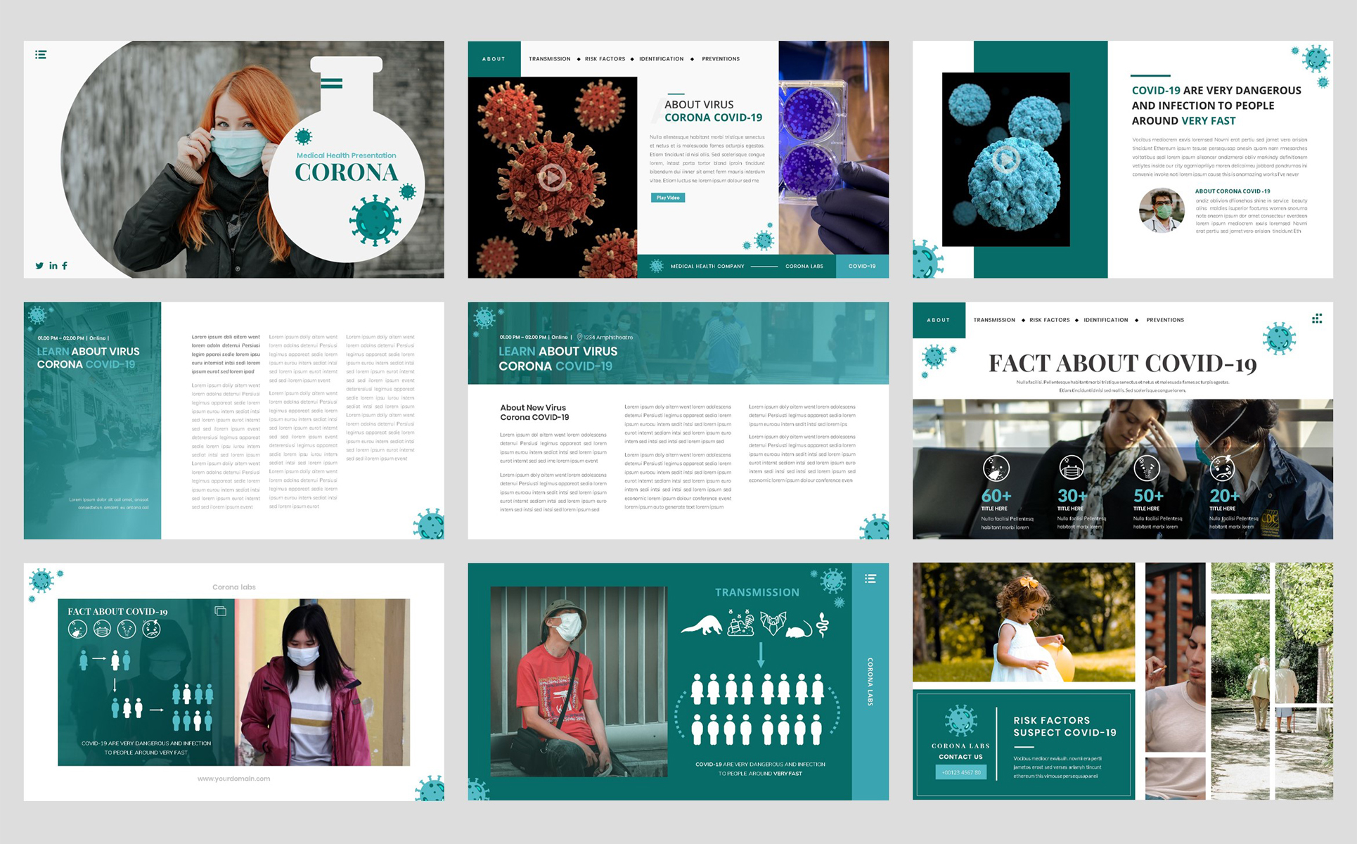 Virus Corona - Medical Health Template Google Slides