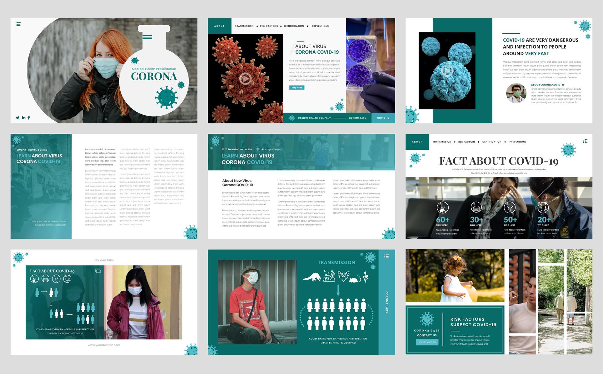Virus Corona - Medical Health Template №98687