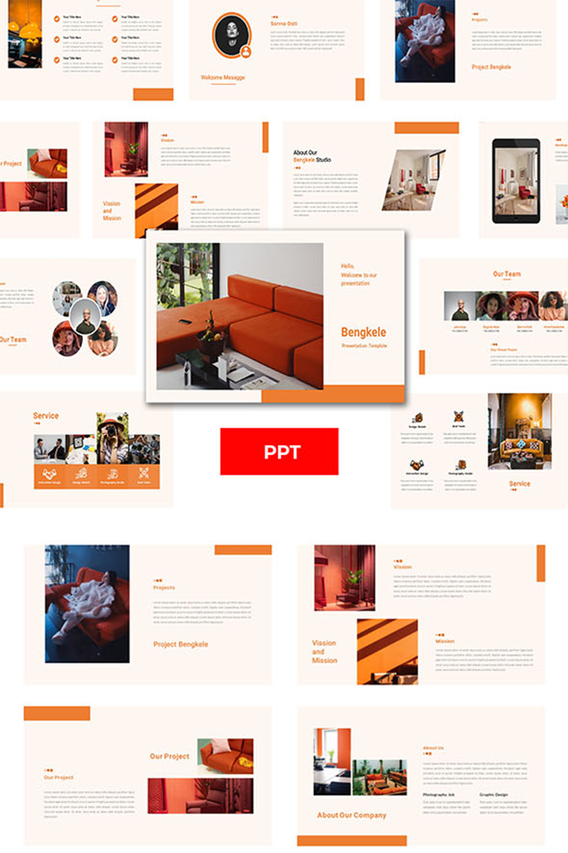 """Bengkele– Creative Business"" PowerPoint 模板 #98757"