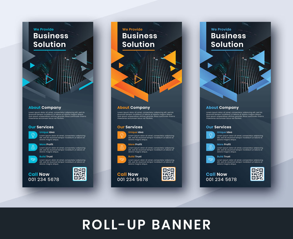 Business Solution Roll-Up Banner Corporate Identity Template