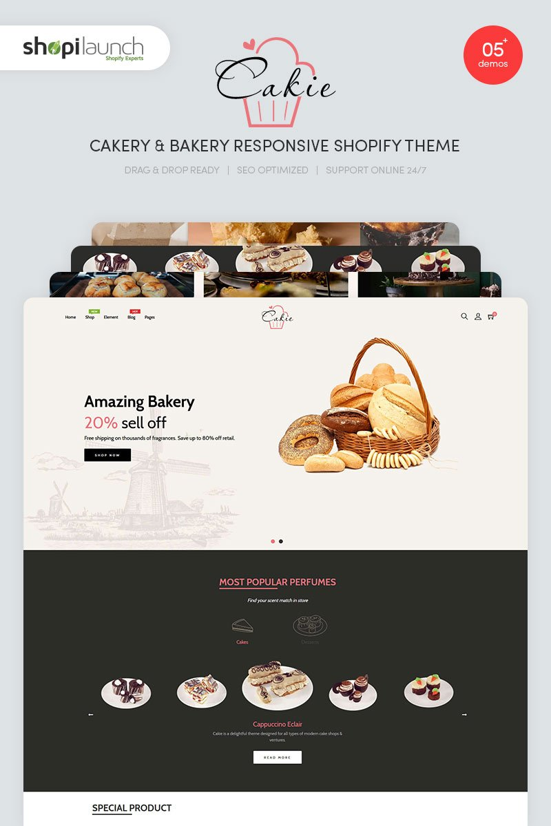 Cakie - Cakery & Bakery Responsive Shopify Theme