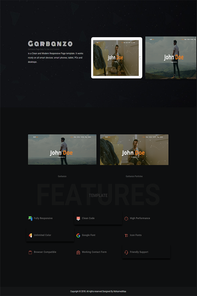 Garbanzo | Multipurpose Personal Bootstrap 4 Landing Page Template