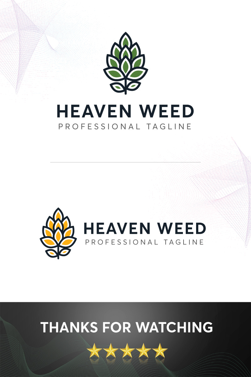 Heaven Weed Logo Template - screenshot