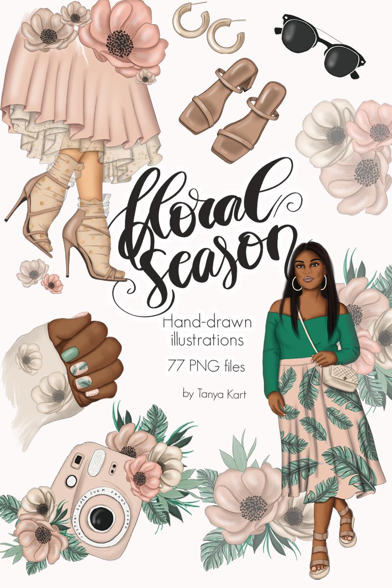 """Ilustración """"Floral Season Clipart"""" #98752"""