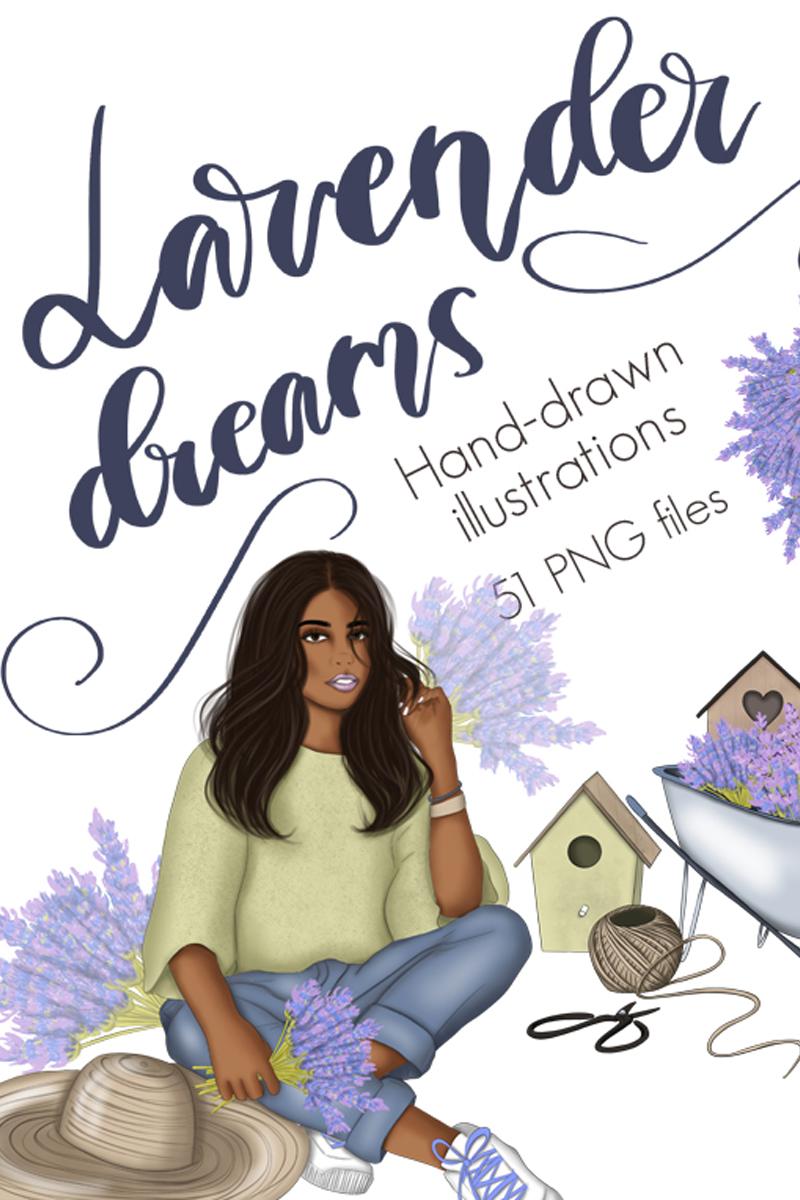 """Ilustración """"Lavender Dreams Clipart"""" #98753"""