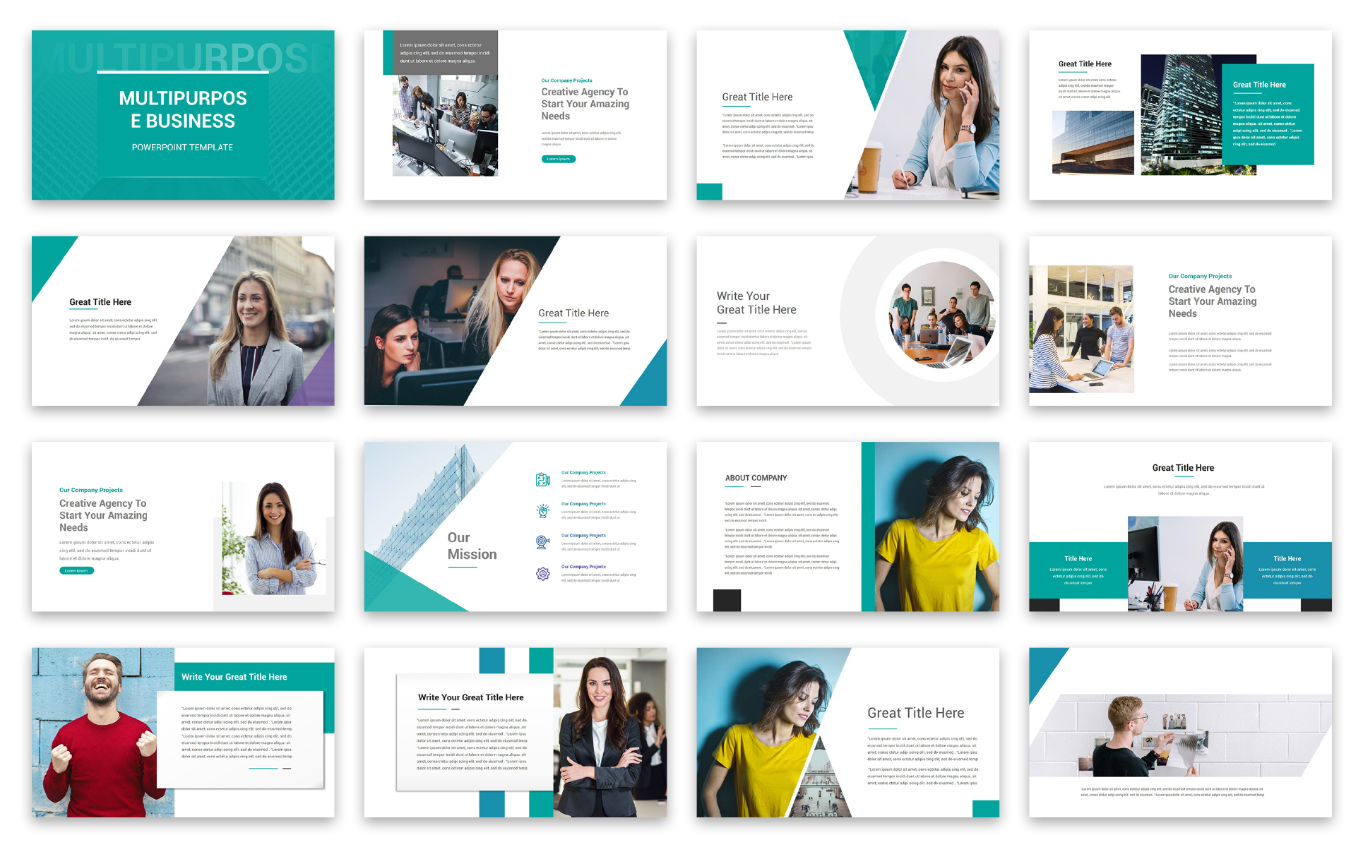 Multipurpose Business PowerPoint Template - screenshot