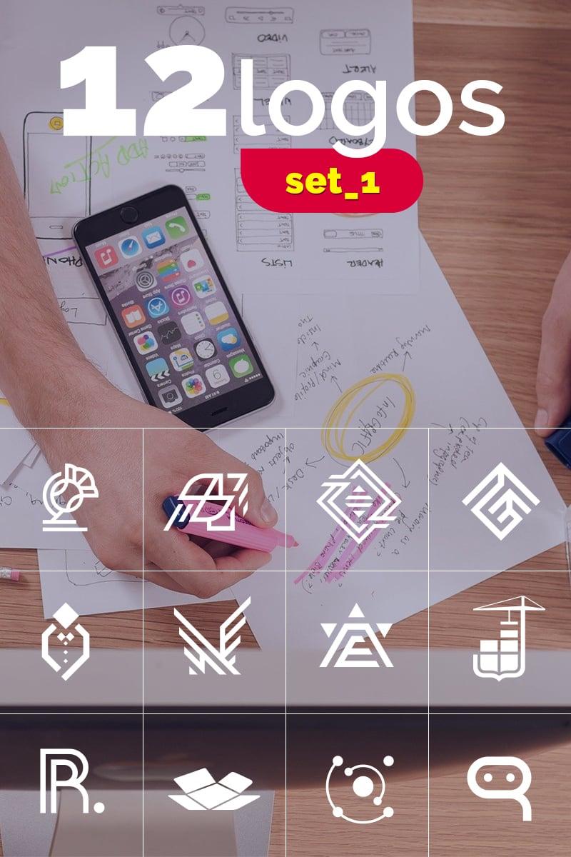 """Plantilla De Logotipo """"12 logos. A set of different characters"""" #98750"""