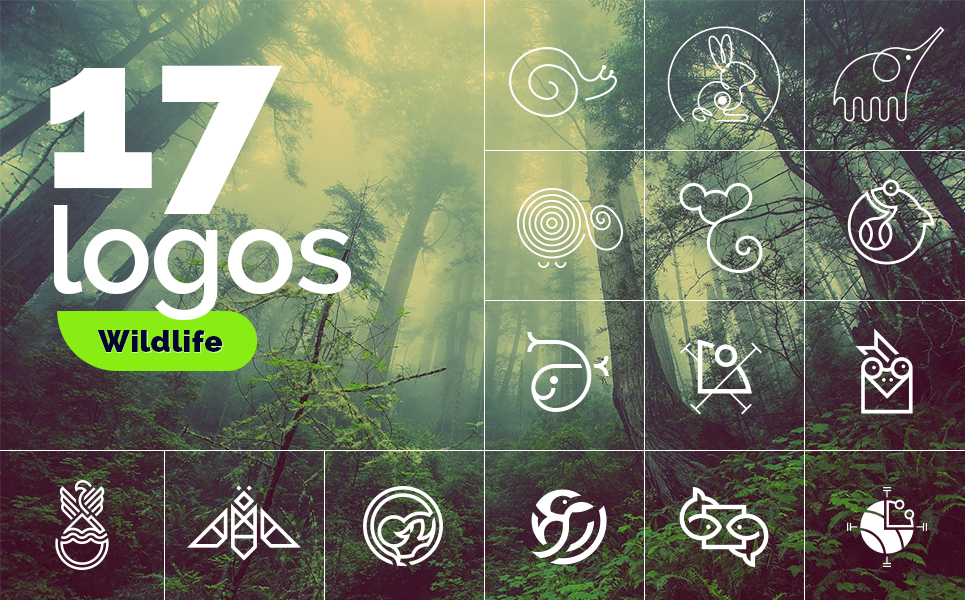 "Plantilla De Logotipo ""Collection on the theme of the animal world"" #98736"