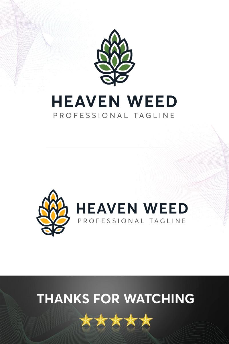 """Plantilla De Logotipo """"Heaven Weed"""" #98708"""