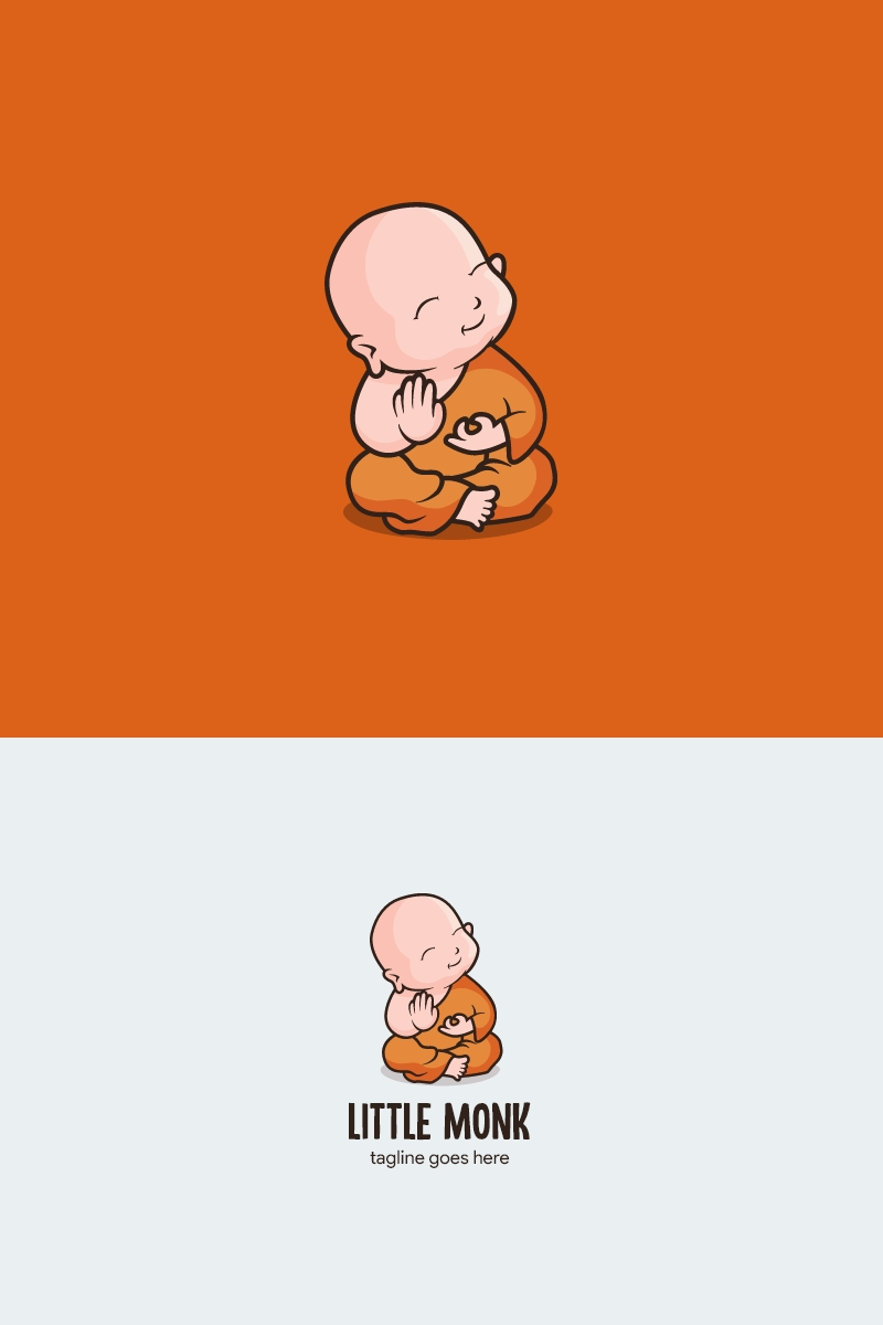"Plantilla De Logotipo ""Little monk"" #98786"
