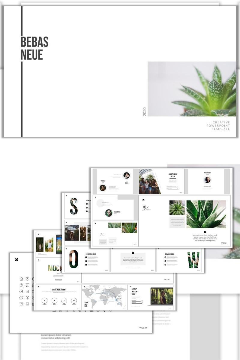 """Plantilla PowerPoint """"Bebas Neue"""" #98794"""