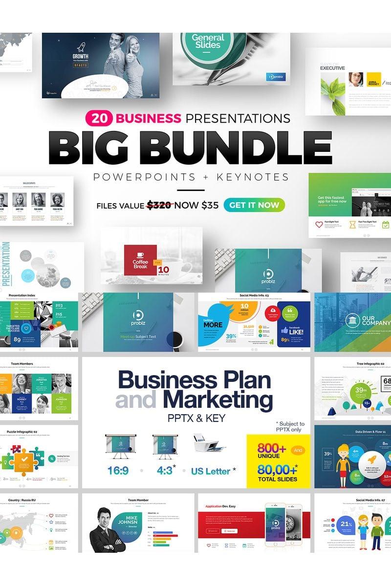 "Plantilla PowerPoint ""Big Bundle"" #98770"