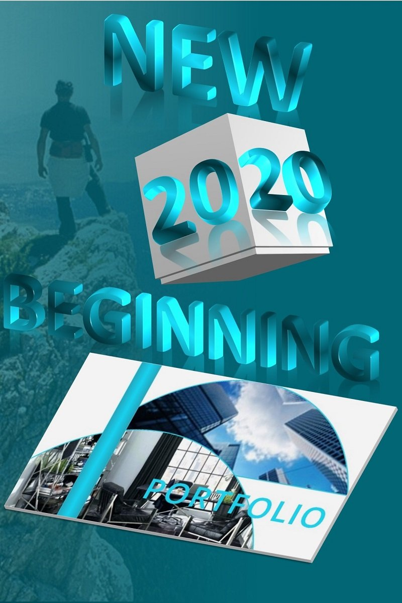 "Plantilla PowerPoint ""New Beginning 2020"" #98727"