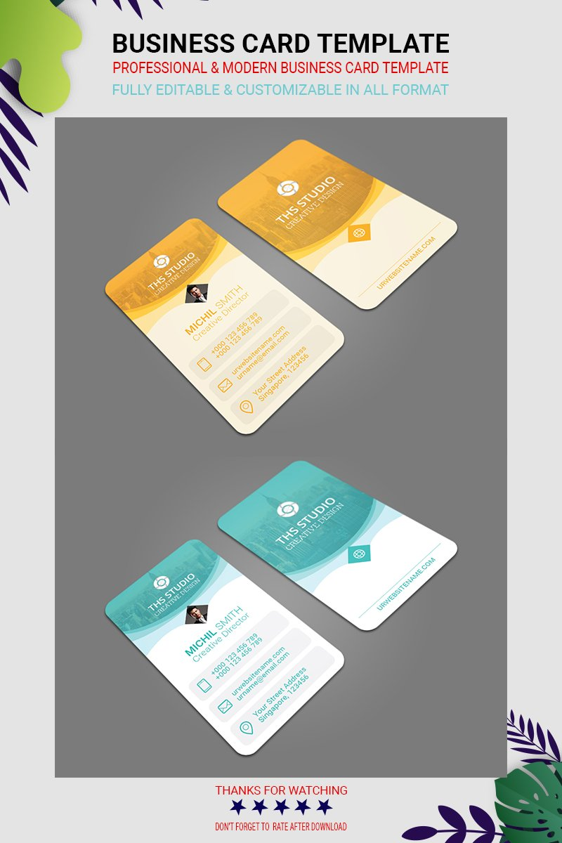 professional and modern Business Card Corporate Identity Template