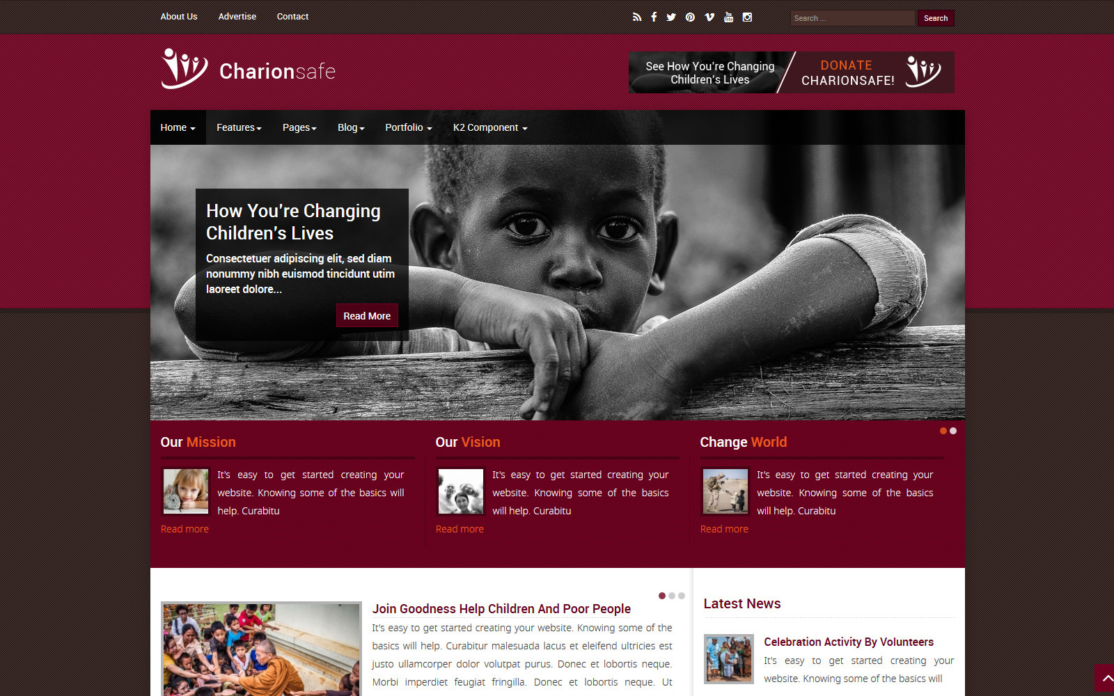 Responsivt Charionsafe Charity Joomla-mall #98742