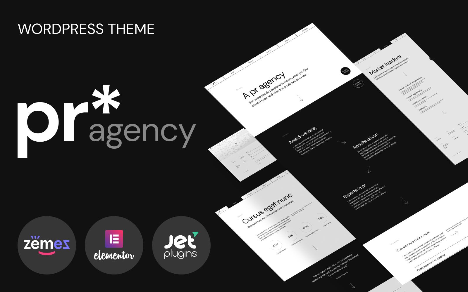 Responsywny motyw WordPress PR Agency - PR Agency Elementor-based #98755