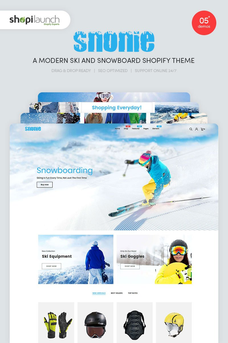 Snonie | A Modern Ski And Snowboard Shopify Theme