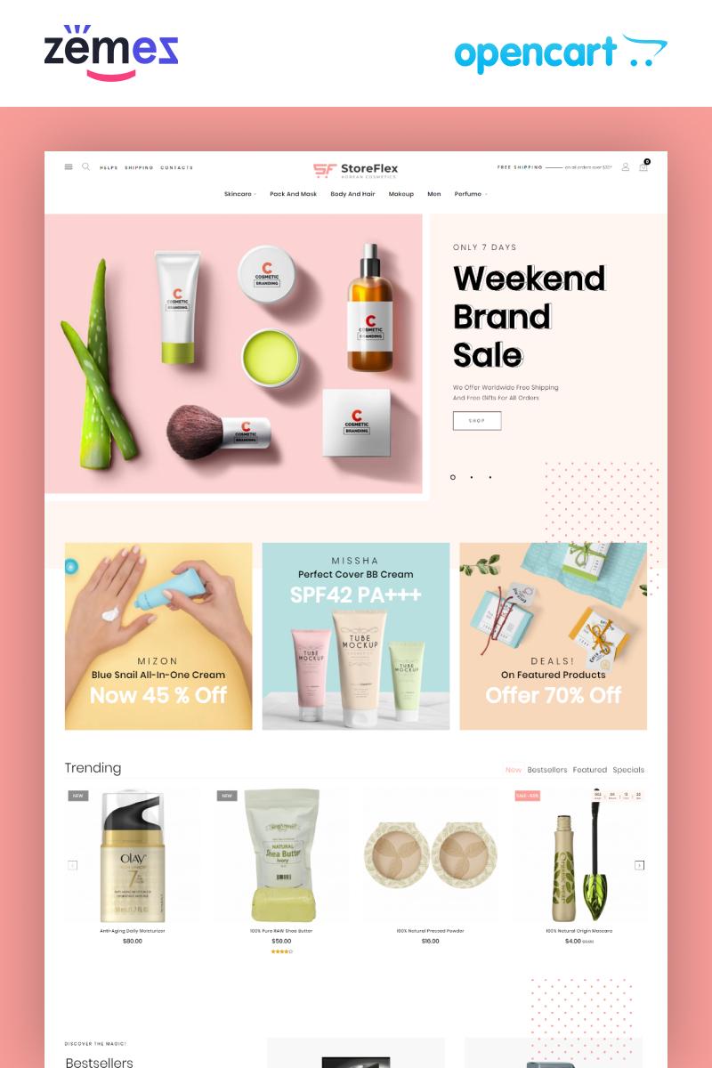 """StoreFlex - Korean Cosmetics eCommerce Template"" thème OpenCart adaptatif #98754"