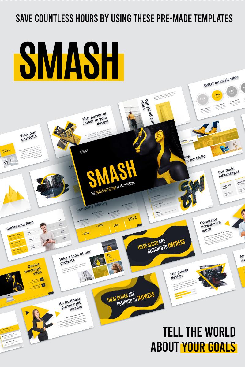Szablon PowerPoint Smash Animated #98790 - zrzut ekranu
