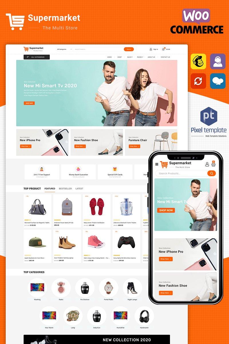 "Tema WooCommerce ""SuperMarket - Multipurpose Responsive"" #98741"