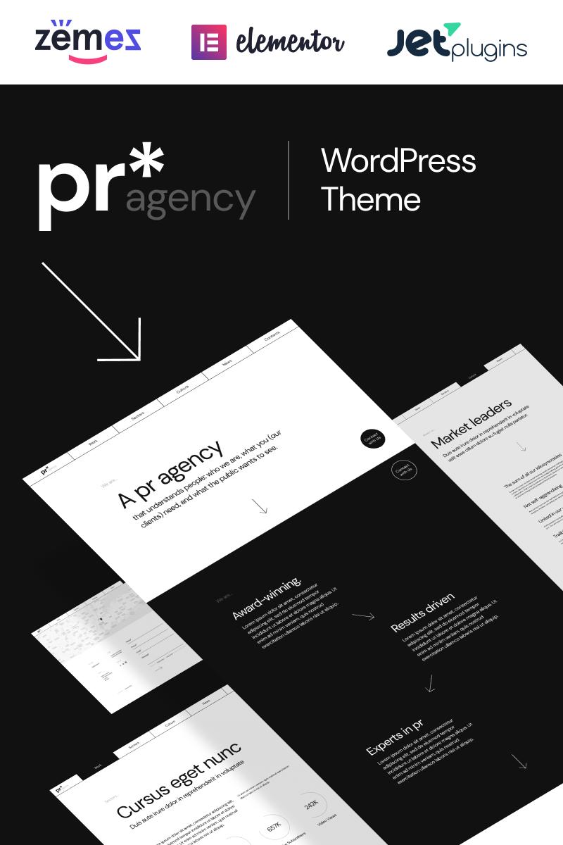 "Template WordPress Responsive #98755 ""PR Agency - pr agency elementor-based"""