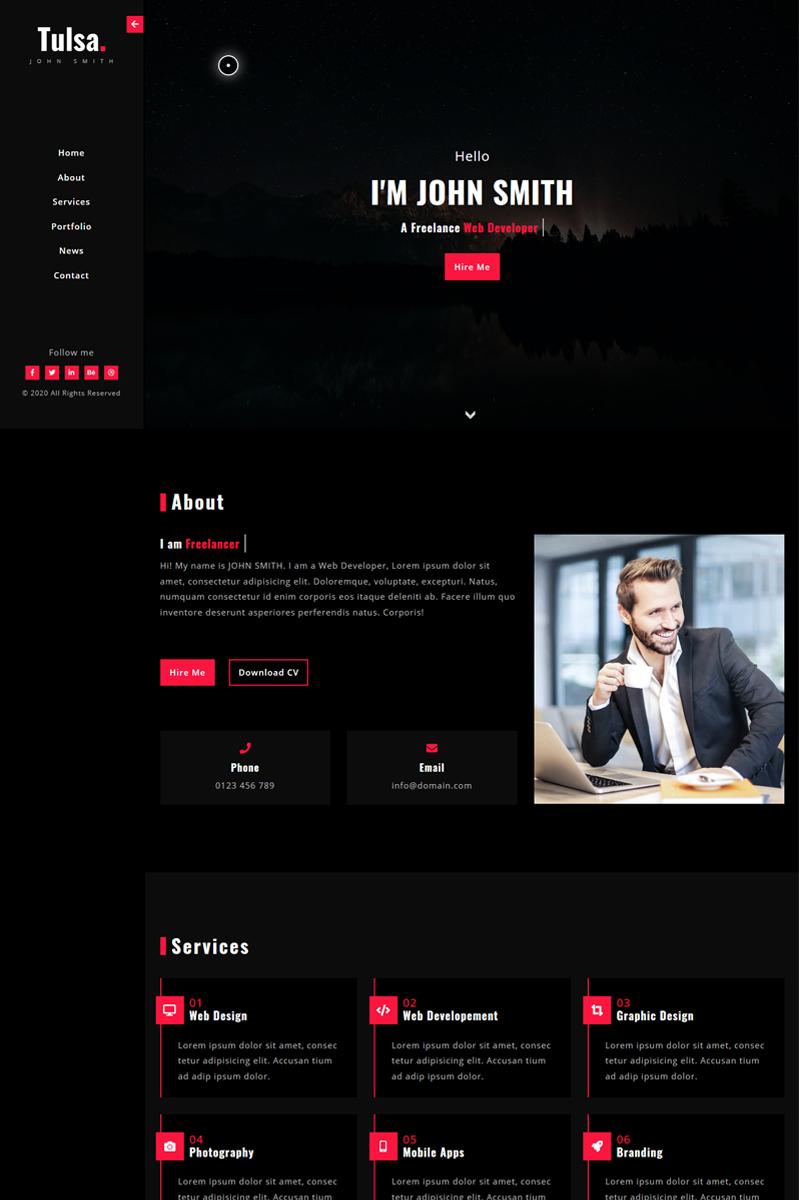 Tulsa - Personal Portfolio Landing Page Template