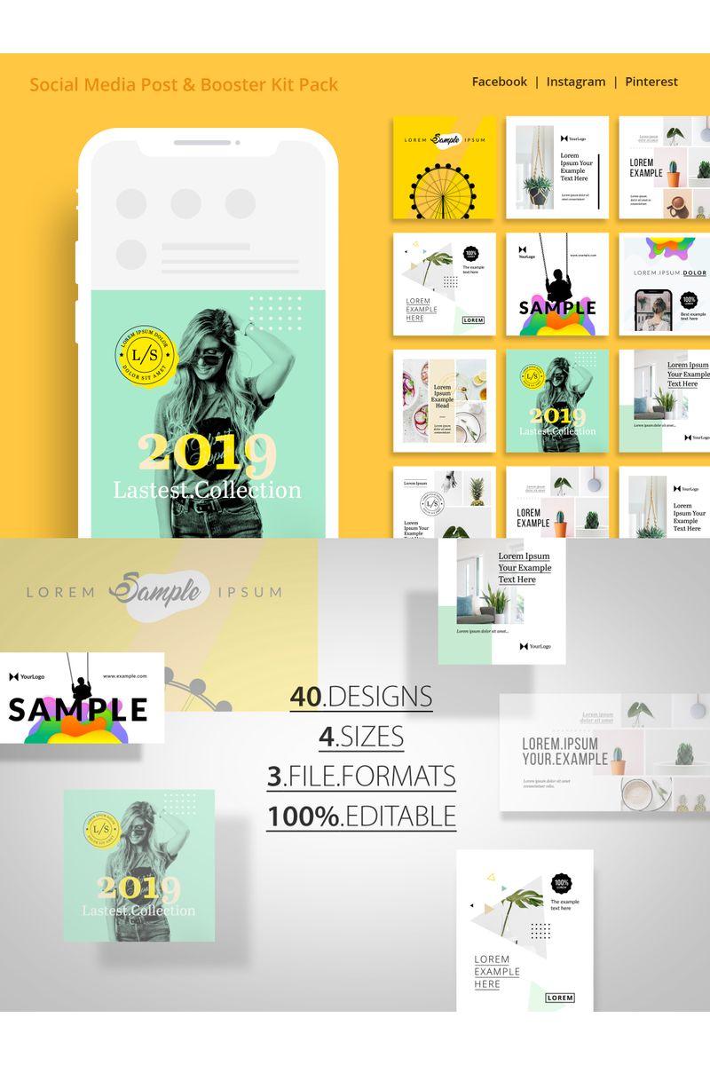 "UI-Elemente namens ""Social Media Booster Kit Pack"" #98763"