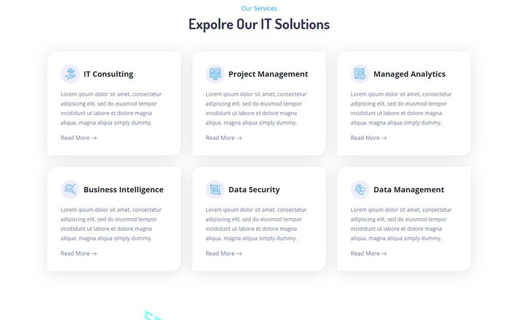 Vervain - IT Solutions & Business Services Website Template - screenshot
