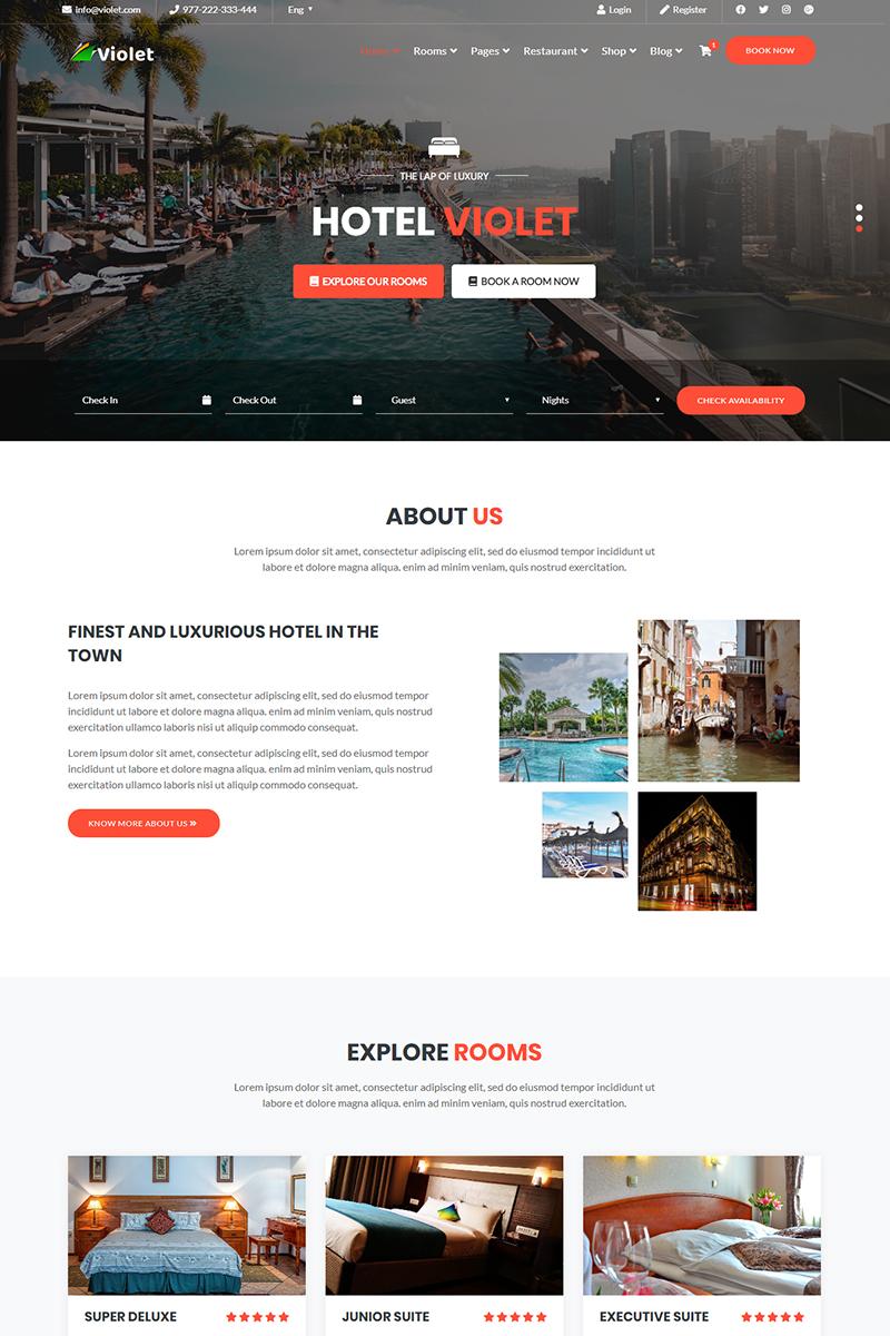 Violet | Hotel & Resort Multipurpose Website Template - screenshot