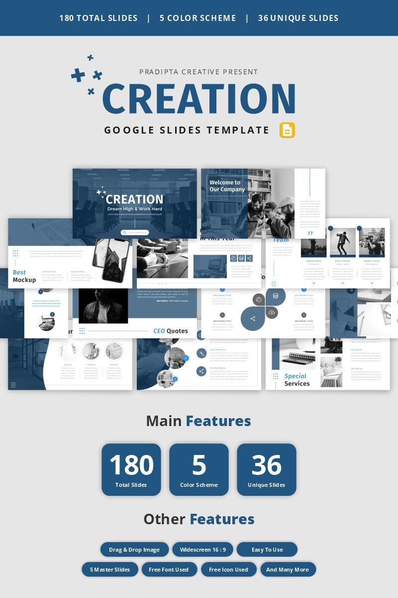 """""""Creation - Creative & Elegant Business  Template Google Slides"""" Google Slides №98810"""