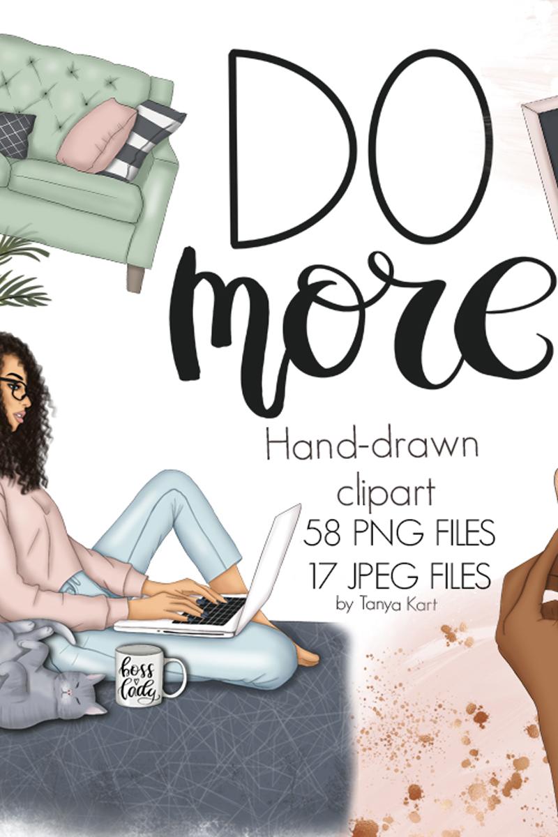 Do More Clipart & Seamless Patterns Illustration - screenshot