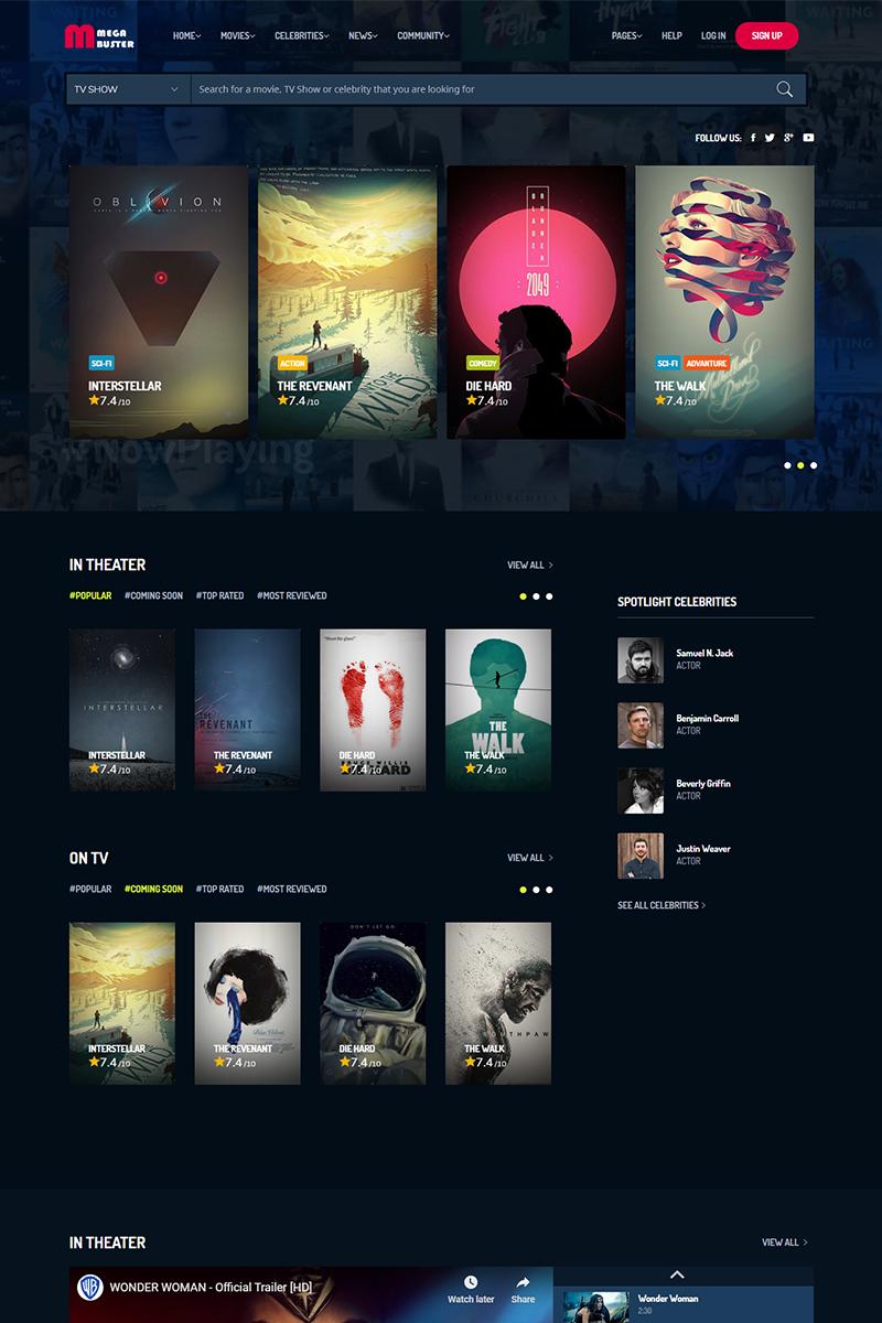 MegaBuster - Film Studio Movie Production Website Template