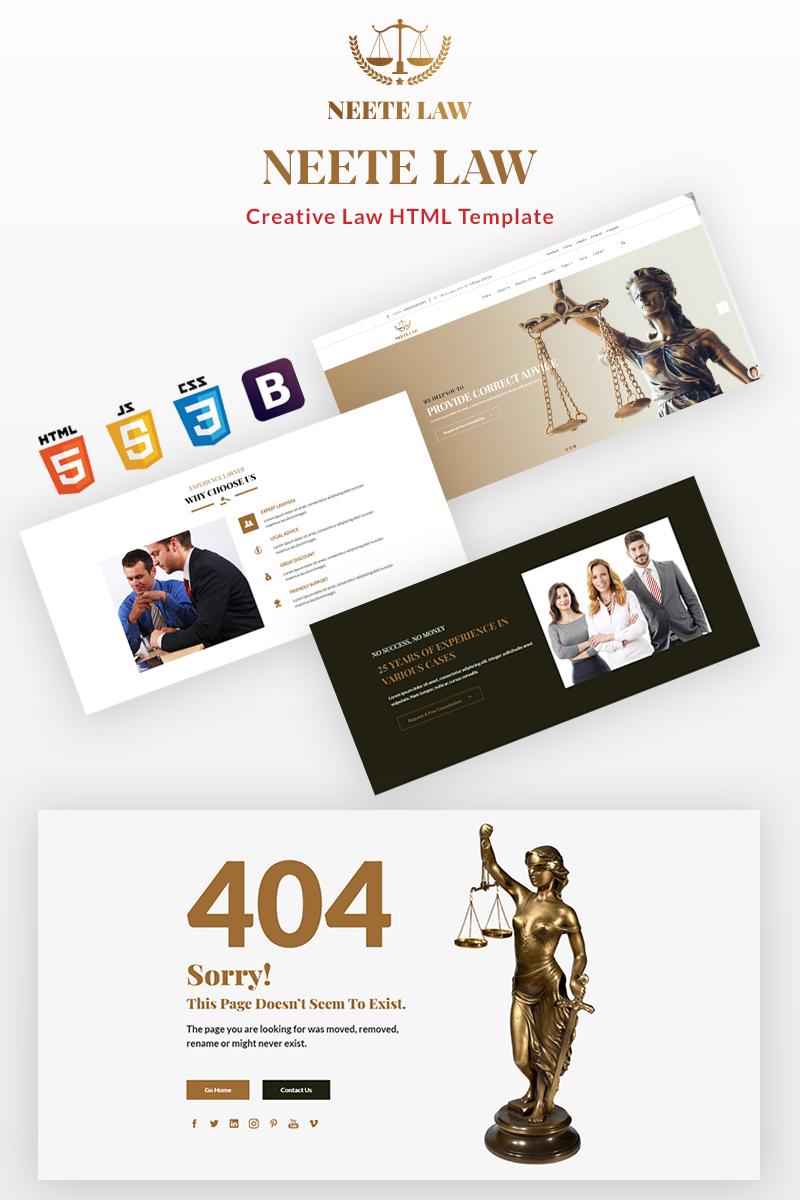 """""""Neete - Law Responsive HTML"""" 响应式网页模板 #98800"""