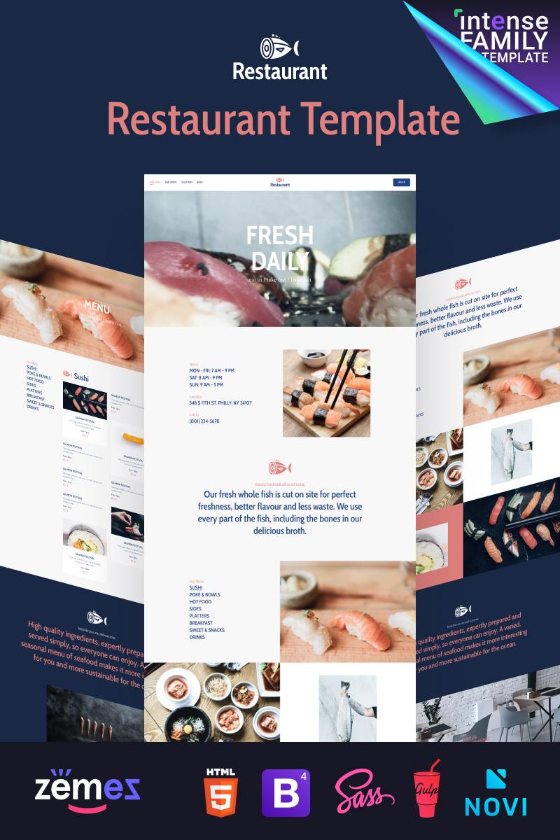 """Seabay - Local Seafood Restaurant"" Responsive Website template №98862"